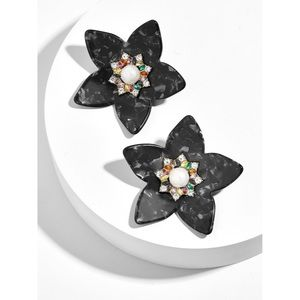 Baublebar Amariah Black Flower Earrings